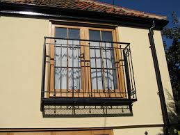 great home exterior with white window glass panel with curved