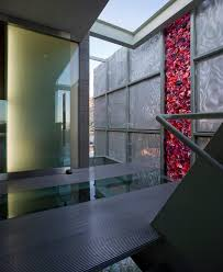 glass wall and floor tiles entry modern with entrance flush mount