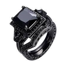 black stone rings images 2016 vintage style jewelry men women black stone couple wedding jpg