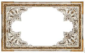 vintage shabby chic ornate full page border