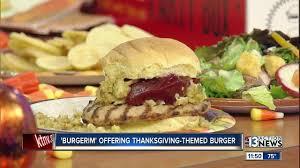 burgerim offering thanksgiving themed burger ktnv las vegas