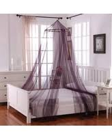 Purple Bed Canopy Don U0027t Miss This Bargain Tie Sheer Bed Canopy Curtain Set In White
