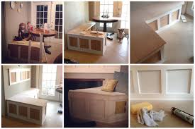 How To Build A Bench Seat For Kitchen Table Kitchen Dazzling Cool Fascinating Breakfast Nook Banquette 150