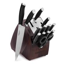 self sharpening kitchen knives calphalon contemporary sharpin 14 pc cutlery set