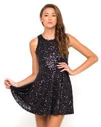 black glitter dress on the hunt