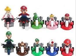 2017 super mario bros kart luigi yoshi toad dk figures toy mini