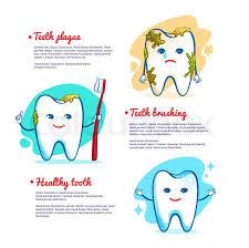 vector illustration of teeth brushing concept stock vector