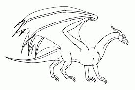dragon outline drawing kids coloring