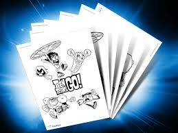 themed printables teen titans go dc