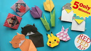 best 5 minute crafts 5 quick u0026 easy origami projects easy