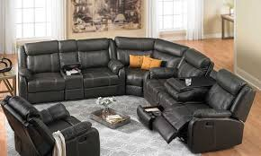 Living Room Wrap Around Couch Ashley Sectional Leather Reclining