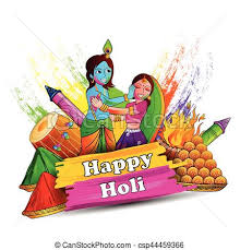 color of happy vector illustration of india festival of color happy holi clip