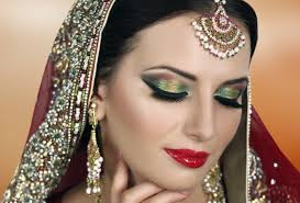 traditional indian bridal makeup tutorial red gold green asian stani arabic bengali wedding