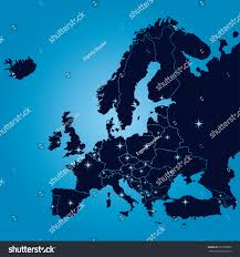 Map Of Europe With Capitals by Original Map Europe Capitals Vector Illustration Stock Vector