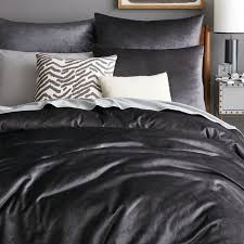 West Elm Duvet Covers Sale Gray Velvet Duvet Cover King Purple Eurofestco Amazing Luxe Shams