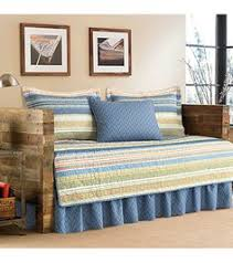 use this ruffled daybed bedskirt to accent the decor on your bed
