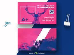 Purple Business Cards Purple Business Card With Deer Freebcard