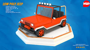 jeep cartoon offroad low poly jeep by multimedia4d 3docean