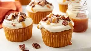 pumpkin salted caramel cupcakes recipe bettycrocker