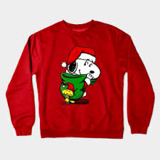 snoopy christmas sweatshirt snoopy christmas crewneck sweatshirts teepublic