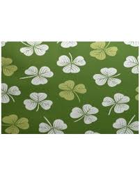 Lime Green Outdoor Rug Holiday Deal On E By Design 3 X 5 Ft Lucky Holiday Floral Print