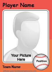 create your own card baseball orange create your own photo card sle modern