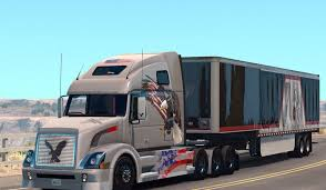 volvo trailer volvo vnl 670 usa eagle skin by aradeth mod american truck