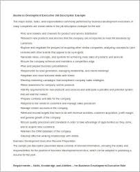 Sample Business Resumes by Sample Business Development Executive Resume 8 Examples In Word
