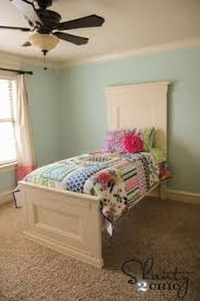 free plans to build a wood bed inspired by pottery barn kids