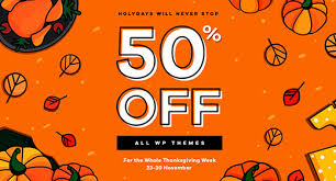 50 thanksgiving sales 23 30 november on themeforest