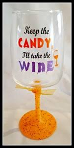 halloween glitter wine glass tutorial leap of faith crafting