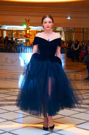 elegant arabic navy blue prom dresses 2015 off the shoulder