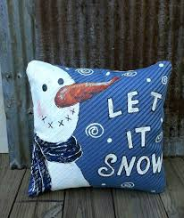 Outdoor Christmas Pillows by New 2016 Fun Snowman Winter Snowman Hand Painted Super
