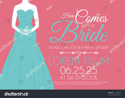Bridal Shower Invitation Cards Designs Bridal Shower Invitation Card On Pink Stock Vector 171502634