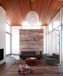 moderne möbel und dekoration ideen kleines steinwand holzdecke