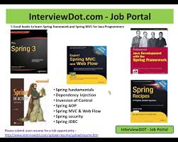 Best Java Resume 5 Best Books To Learn Spring Framework And Spring Mvc For Java