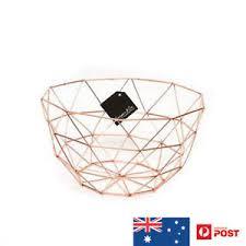 metal fruit basket 27cm d metal fruit basket copper gold homewares ebay