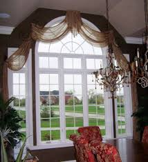 Custom Window Treatments by Sheer Arched Swags Custom Window Treatments Pinterest Swag