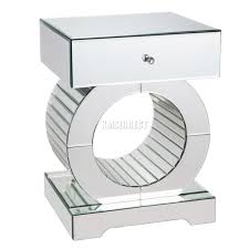 Mirrored Furniture Online Foxhunter Mirrored Furniture Glass Drawer Bedside Cabinet Table