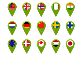 netherlands map flag world map flag pins stock illustration image of netherlands