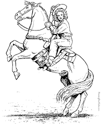 free cowboy coloring pages many interesting cliparts