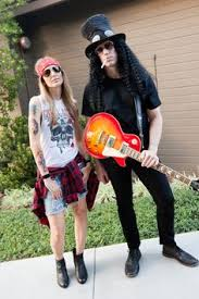 easy couples costumes axl slash of guns n roses easy couples costume for