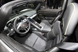 hybrid porsche 918 car picker porsche 918 spyder interior images