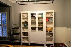 ikea hemnes glass door cabinet our new china cabinet set up ikea hemnes glass door cabinet