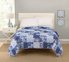 How Big Is A King Size Bed Blanket Big Fab Find Patchwork Quilt U2013 Blue