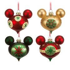 ornament set retro mickey mouse set of 4