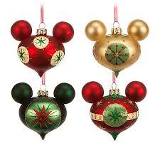 ornament set retro mickey mouse set of 4