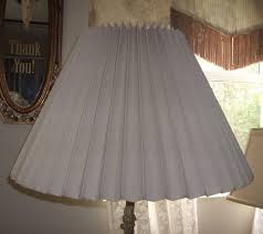 knob creek accordion pleated lampshade restored replaced plastic