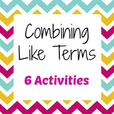 combining like terms bundle 6 in 1 activity pack