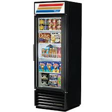 glass door chest freezer true gdm 19t f ld black glass door merchandiser freezer with led